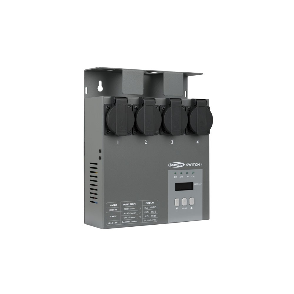 'Showtec MultiSwitch DMX-512 a 4 canali. switchpack'
