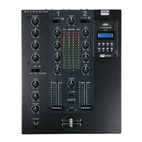 'DAP-Audio CORE MIX-2 USB Mixer per DJ a 2 canali con interfaccia USB'
