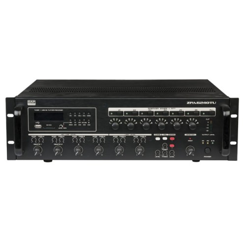 'DAP-Audio ZPA-6240TU Amplificatore a zone, 100V, 240W'