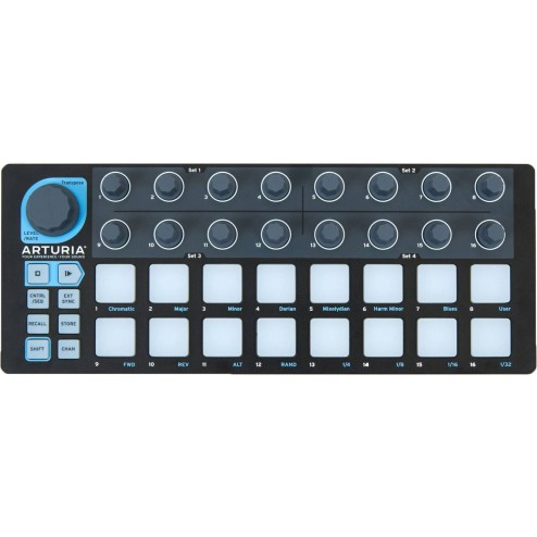 ARTURIA BEATSTEP BLACK LE Superficie di controllo e step-sequencer