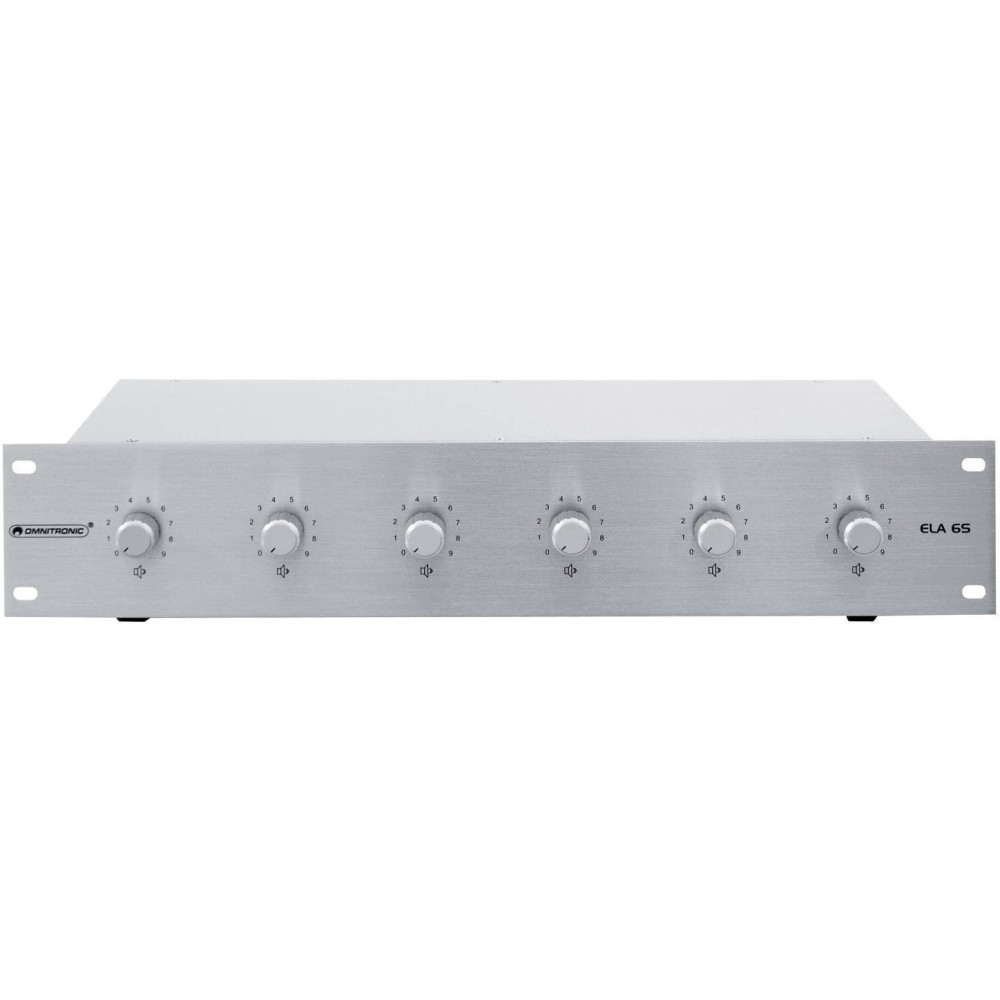 OMNITRONIC PA 20W STEREO SIL Volume controller a 6 zone