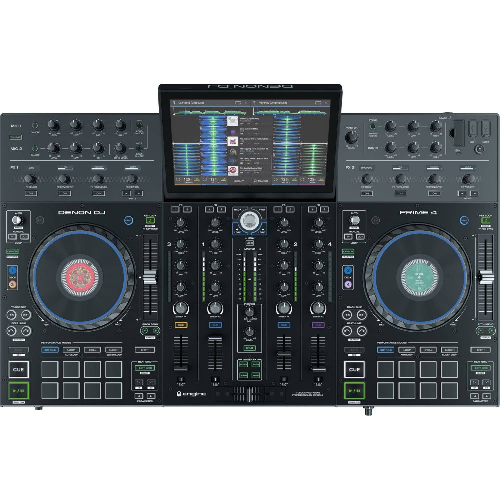 DENON DJ PRIME 4 Consolle DJ standalone all in one a 4 deck