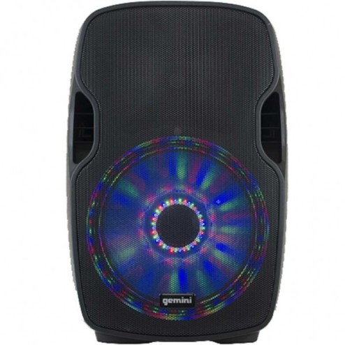 "GEMINI AS 12 P BLU LIGHT Diffusore amplificato da 12"" con LED multicolore"