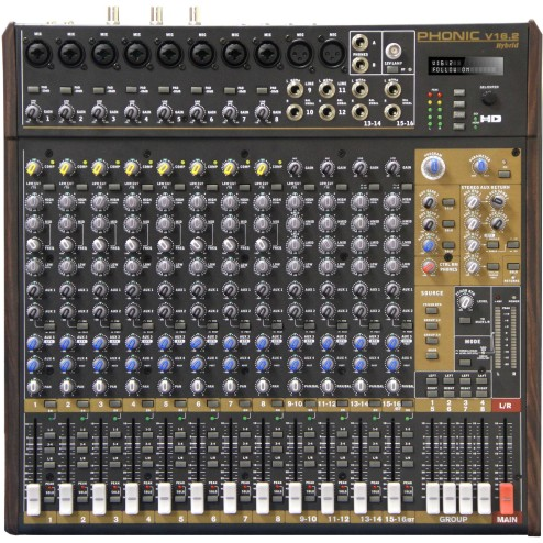 PHONIC V 16.2 HYBRID Mixer audio video a 16 canali