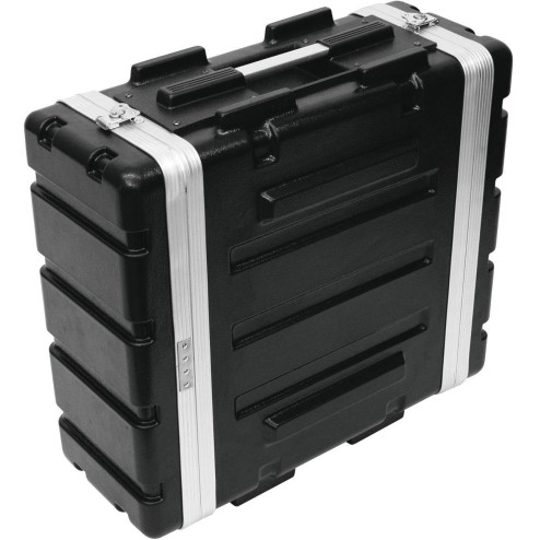 "ROADINGER PLASTIC RACK KR-19, 4U, DD, BLACK Flightcase in plastica rigida per unità da 483 mm (19"")"