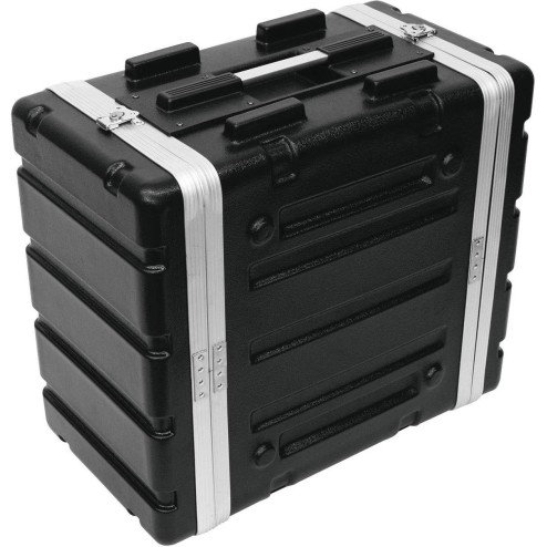"ROADINGER PLASTIC RACK KR-19, 6U, DD, BLACK Flightcase in plastica rigida per unità da 483 mm (19"")"