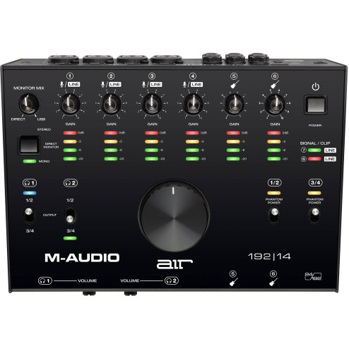 M-AUDIO AIR 192|14 Interfaccia audio usb audio/midi con 8 in 4 out