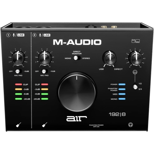 M-AUDIO AIR 192|8 Interfaccia audio usb audio/midi con 2 in 4 out