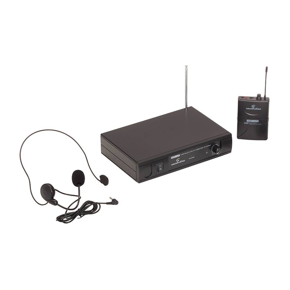 RADIOMIC. VHF SOUNDSATION WF-V11PD BODYPACH + HEADSET 209.80MHz