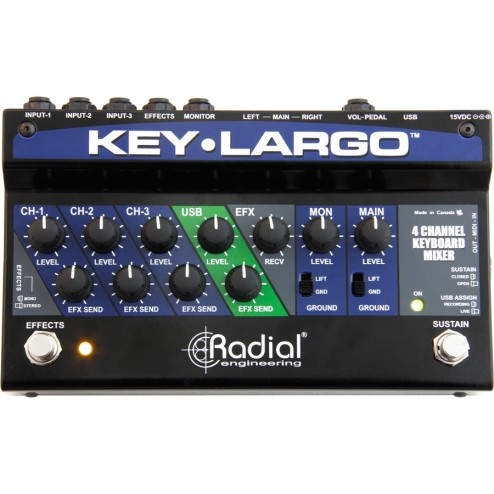 RADIAL ENGINEERING KEY-LARGO Pedaliera per tastiere