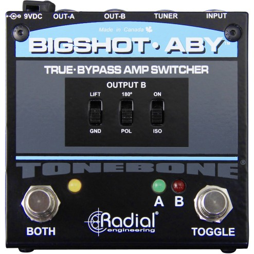 RADIAL BIG SHOT ABY REV2 Selettore True-bypass ABY per amplificatori