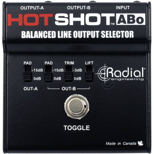RADIAL ENGINEERING HOT SHOT ABO Footswitch per uscite bilanciate