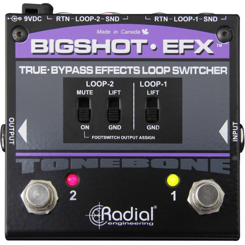 RADIAL ENGINEERING BIG SHOT EFX REV2 Switcher di loop effetti true-bypass