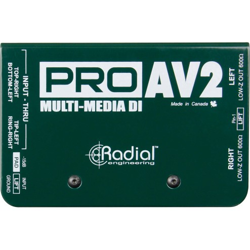 RADIAL ENGINEERING PRO-AV2 DI box stereo passiva per multimedia