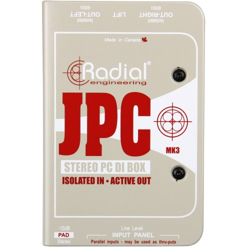 RADIAL ENGINEERING J-PC DI box attiva per computer