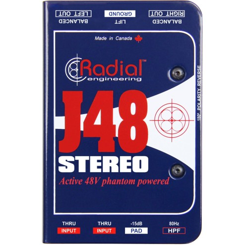 RADIAL ENGINEERING J48 STEREO DI box stereo attiva