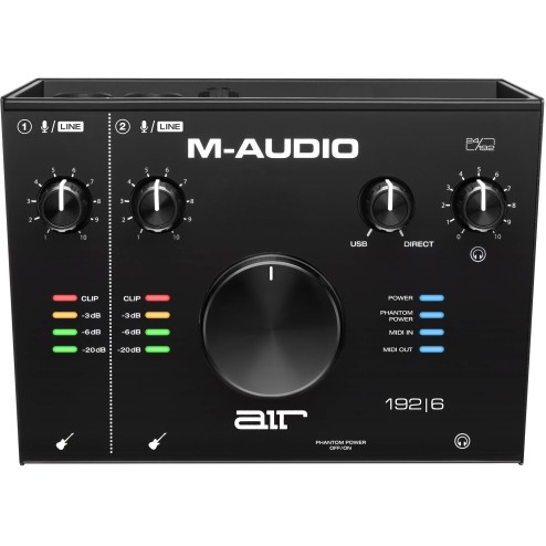 M-AUDIO AIR 192|6 Interfaccia audio usb audio/midi con 2 in 4 out B-STOCK