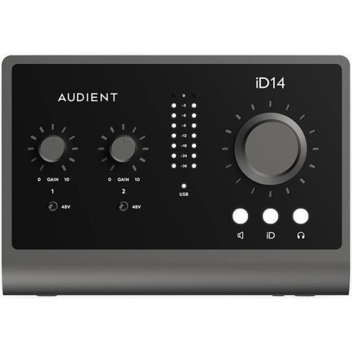 AUDIENT ID14 MKII Interfaccia audio usb bus powered 10 in 6 out scroll control
