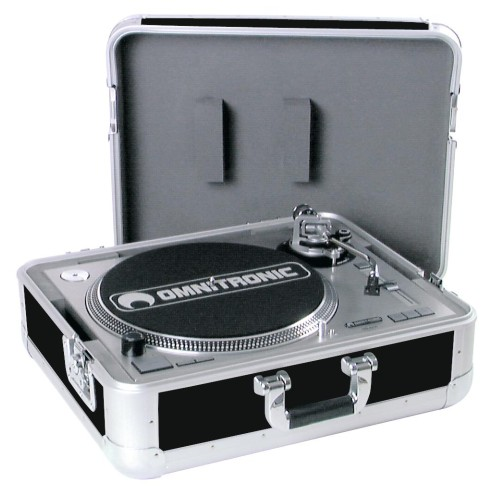 ROADINGER Turntable Case Tour ALU BK Flightcase in alluminio per giradischi