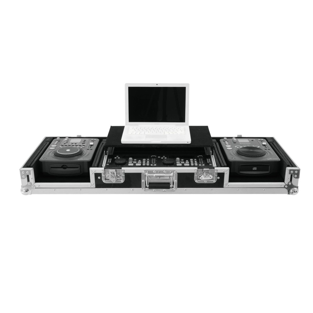 ROADINGER LS-1 FLIGHTCASE PER 2 LETTORI CDJ, MIXER E LAPTOP