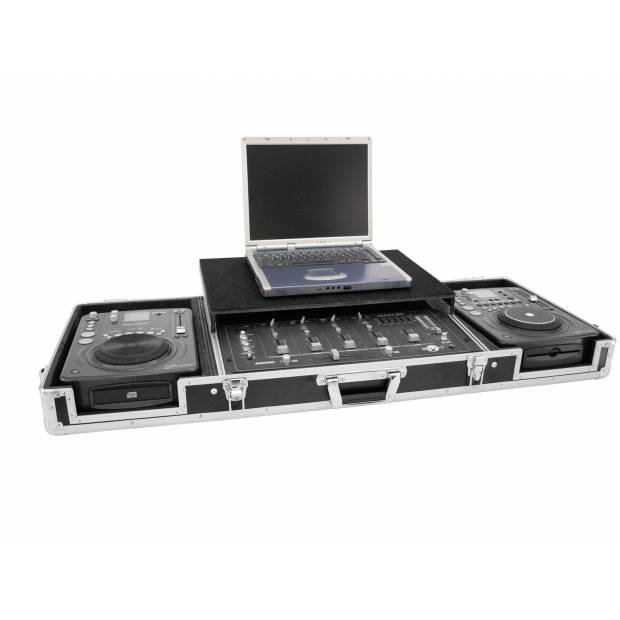 "ROADINGER DS-1 FLIGHTCASE PER 2xCDJ MIXER 19"" E LAPTOP NERO"