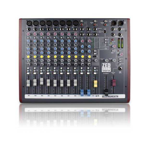ALLEN&HEATH ZED60 14 FX MIXER PASSIVO + 16 EFFETTI INTERNI + 2 INGRESSI STEREO + USB IN/OUT CONFIGURABILE + 8 INGRESSI MICROFONO