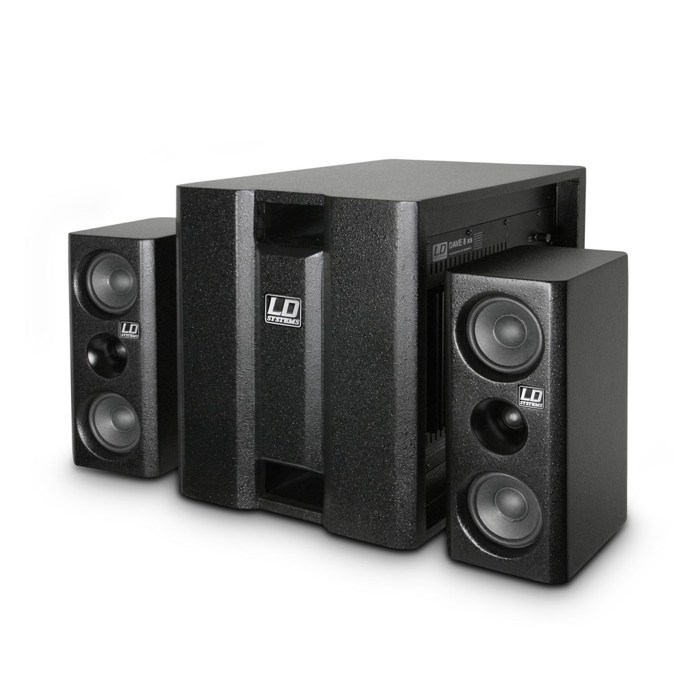 LD SYSTEM DAVE8XS SISTEMA 2.1 MULTIMEDIALE PROFESSIONALE ATTIVO 350W RMS SUBWOOFER + 2 SATELLITI