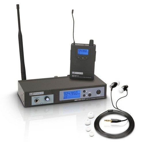 LD SYSTEM MEI 100 G2 SISTEMA WIRELESS IN EAR MONITOR UHF 823 – 832 MHZ E 863-865 MHZ