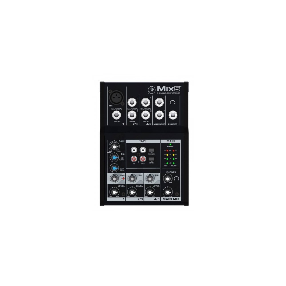 MACKIE MIX5 MIXER COMPATTO 1CANALE MICROFONICO 2 STEREO JACK
