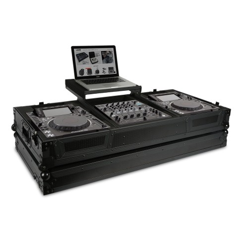 UDG ULTIMATE FLIGHT CASE PIONEER CDJ-2000/900 NEXUS2 BLACK PLUS FLIGHT CASE PROFESSIONALE + LAPTOP COLORE NERO