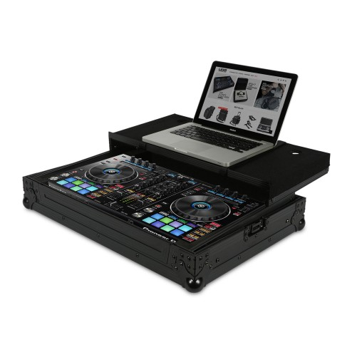 UDG ULTIMATE FLIGHT CASE PER PIONEER DDJ-RR O PIONEER DDJ-SR + LAPTOP CASE PROFESSIONALE ROBUSTO COLORE NERO