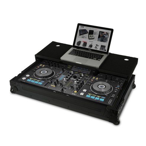 UDG ULTIMATE FLIGHT CASE PIONEER XDJ-RX BLACK PLUS FLIGHT CASE PROFESSIONALE + LAPTOP COLORE NERO