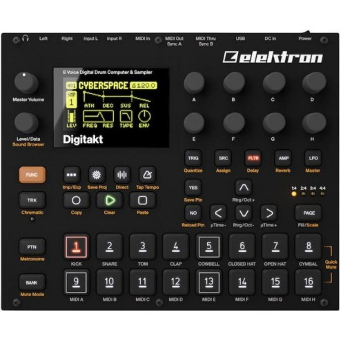 ELEKTRON DIGITAKT DRUM MACHINE A 8 VOCI