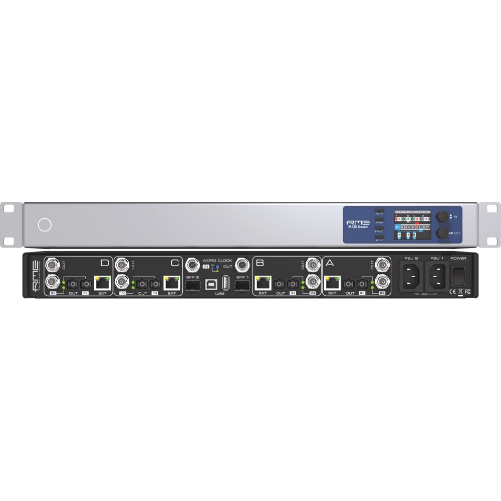 RME MADI Router Patch bay e format converter MADI