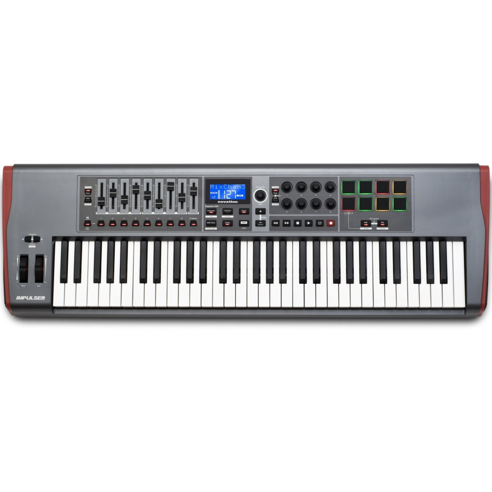 NOVATION Impulse 61 controller USB-MIDI a 61 tasti con drumpad
