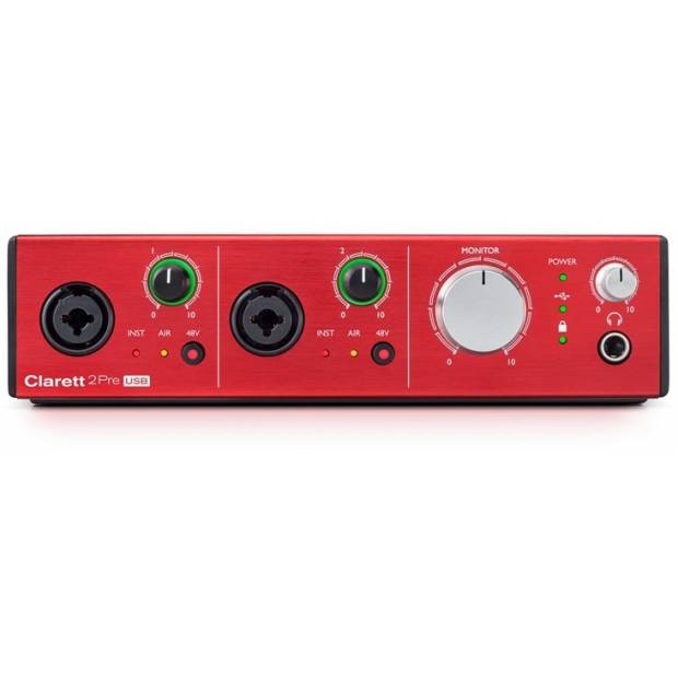 FOCUSRITE CLARETT 2 PRE USB interfaccia audio con 10 ingressi e 4 uscite.