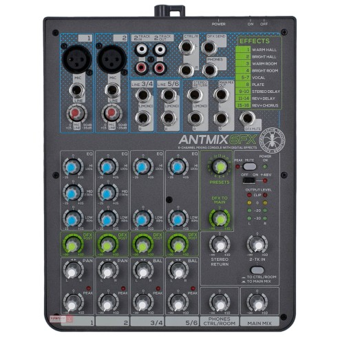 ANT ANTMIX 6FX CONSOLLE MIXER A 6 CANALI