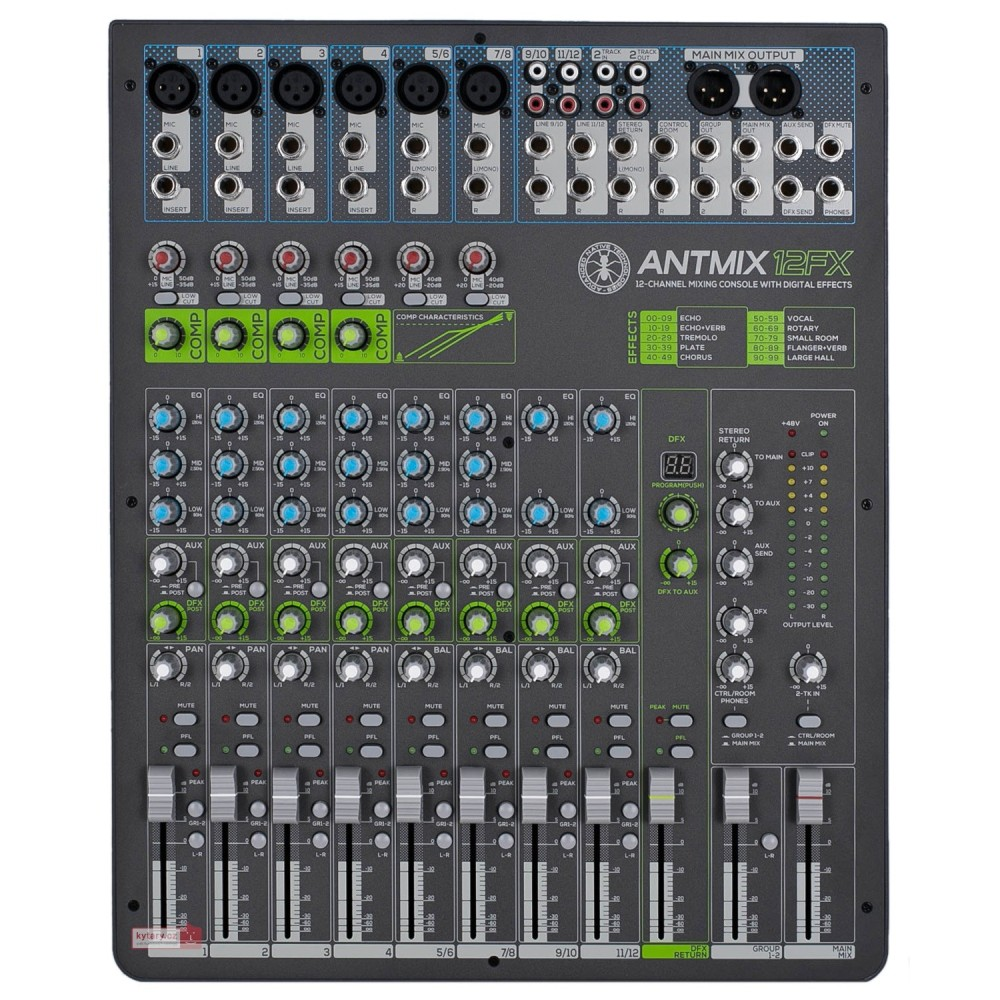 ANT ANTMIX 12FX CONSOLLE MIXER A 12 CANALI