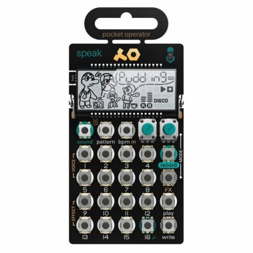 TEENAGE ENGINEERING PO35 SPEAK sintetizzatore vocale e sequencer con microfono incorporato