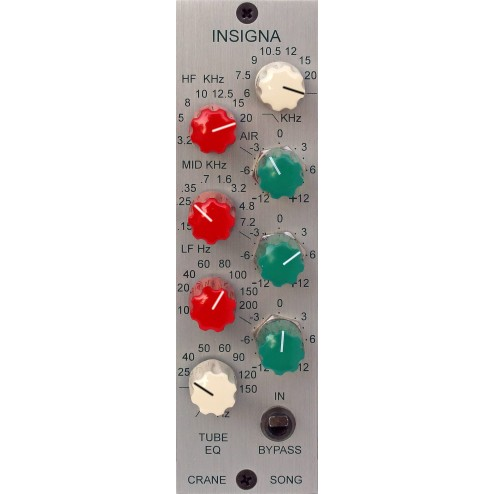 CRANE SONG INSIGNA Eq a 3 bande con filtri Hi cut e Low cut 500 series