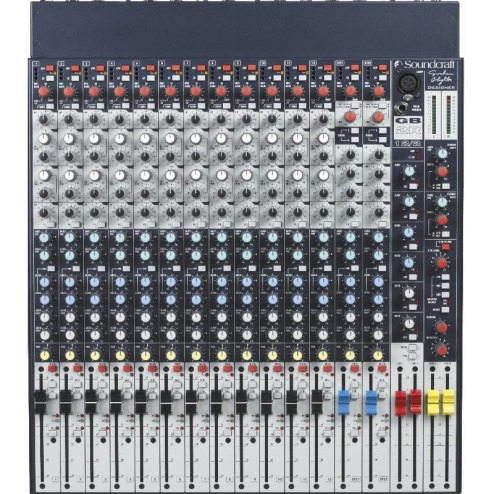 "SOUNDCRAFT GB2R 12CH GB2R 12, Console Analogica formato rack 19"", 2 Bus, 12 Ingressi Mono + 2 Stereo"