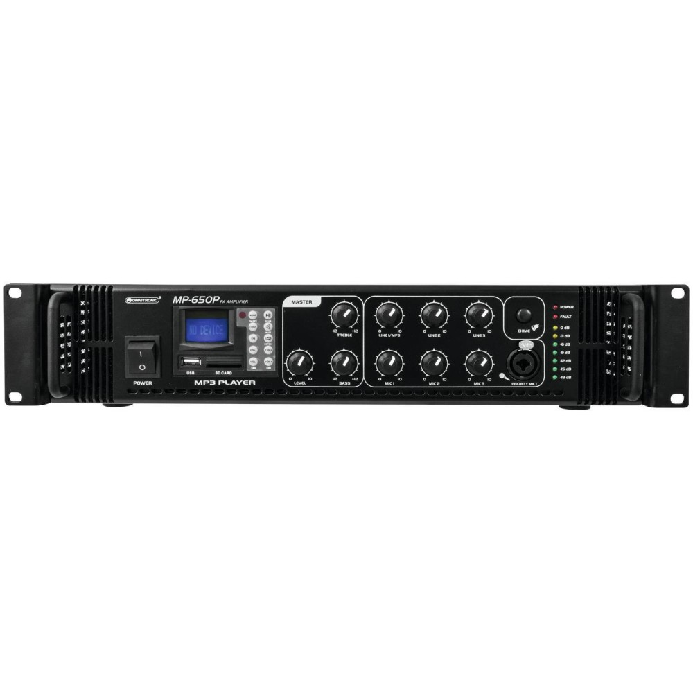OMNITRONIC MP-650P Amplificatore PA da 100 V